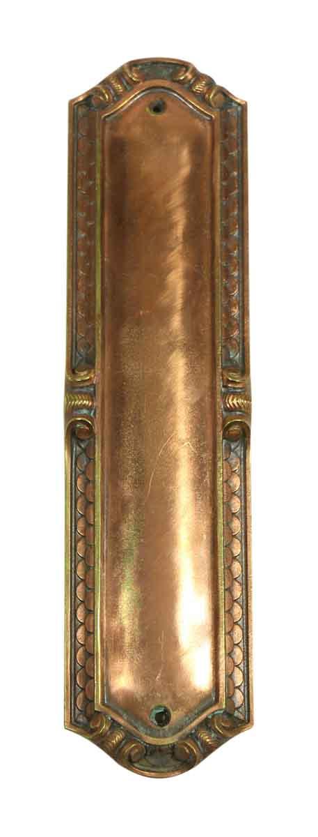 Copper Scalloped Push Plate