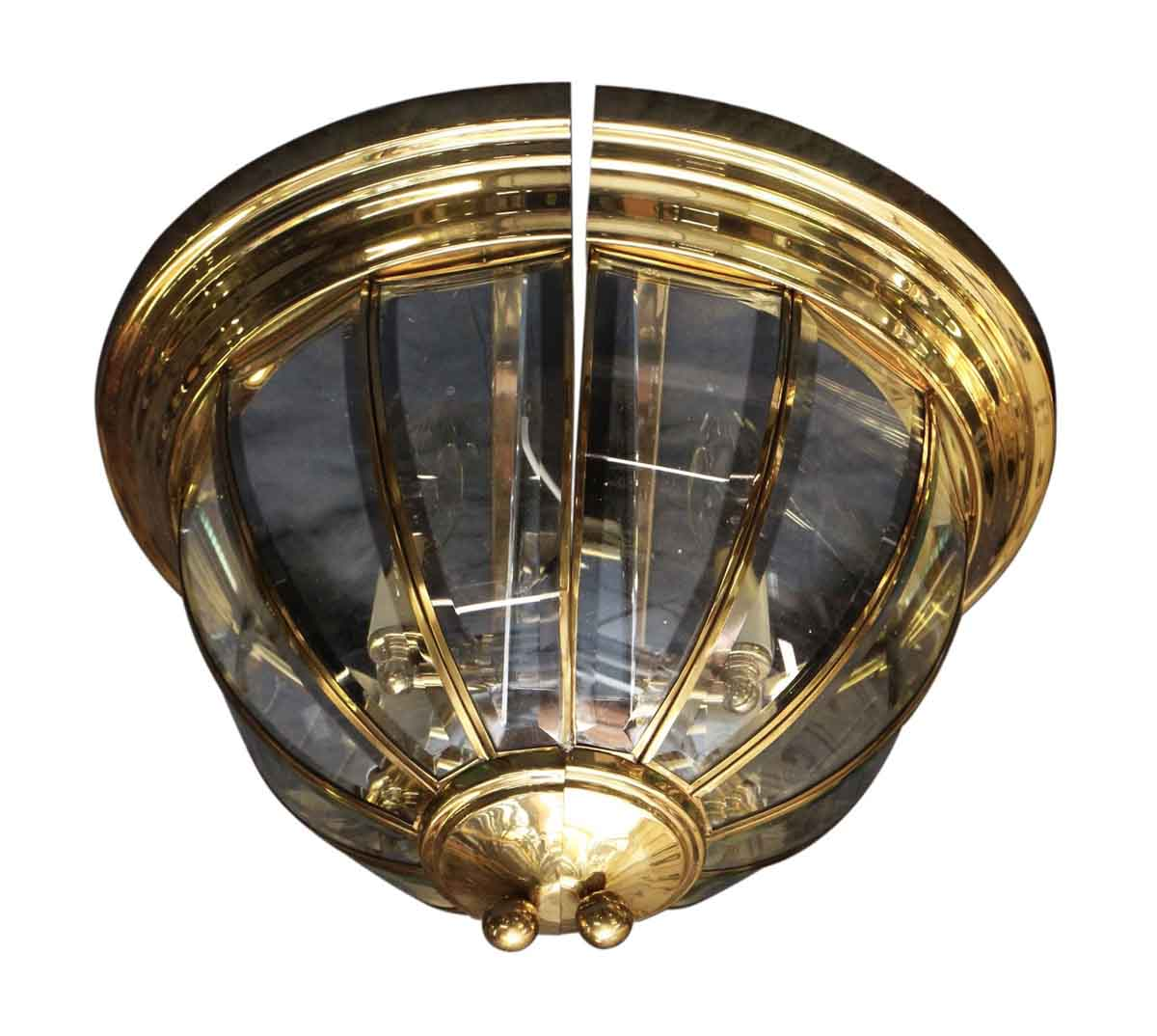 Brass flush mount two arm wall sconce olde good things for Flush with the wall