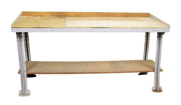 Metal & Wood Work Table
