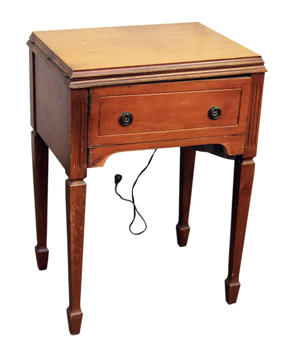 Sewing Machine Table Cabinet Olde