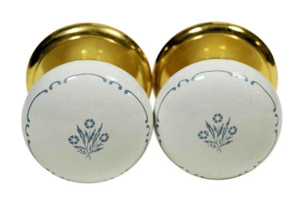 Set of Gainsborough Floral Ceramic Knobs