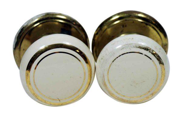 Pair of Ceramic Gainsborough Knobs