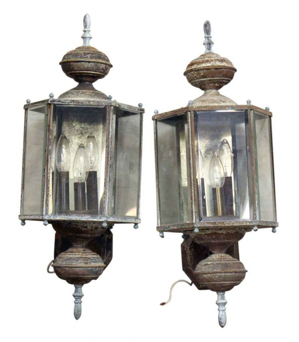 Pair of Exterior Sconce Lanterns