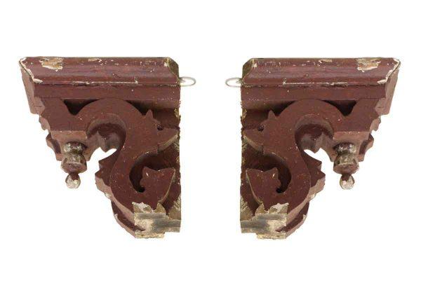 Pair of Wooden Corbels