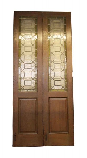 Oak Doors Stained Glass Doors