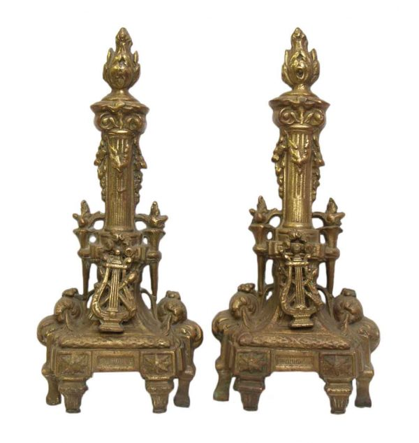 Pair of Decorative Andirons