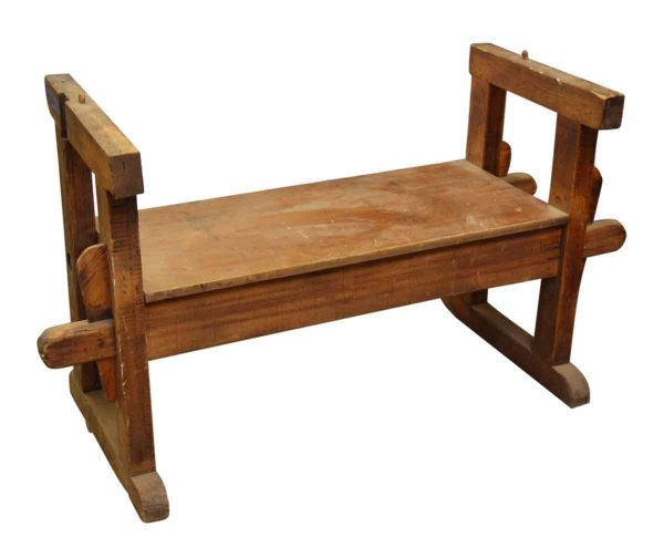 Vintage Wooden Bench with Sides