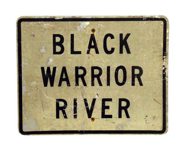 Black Warrior River Metal Sign