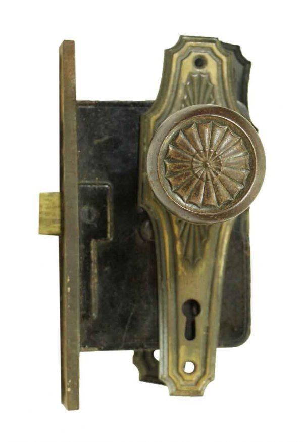 Art Deco Knob & Lock Set