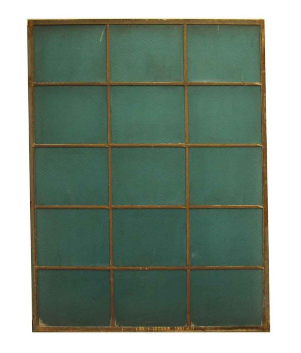 Vintage Reclaimed Aqua Blue Chicken Wire Glass Window