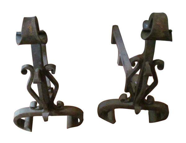 Set of Andirons Bronze Plated