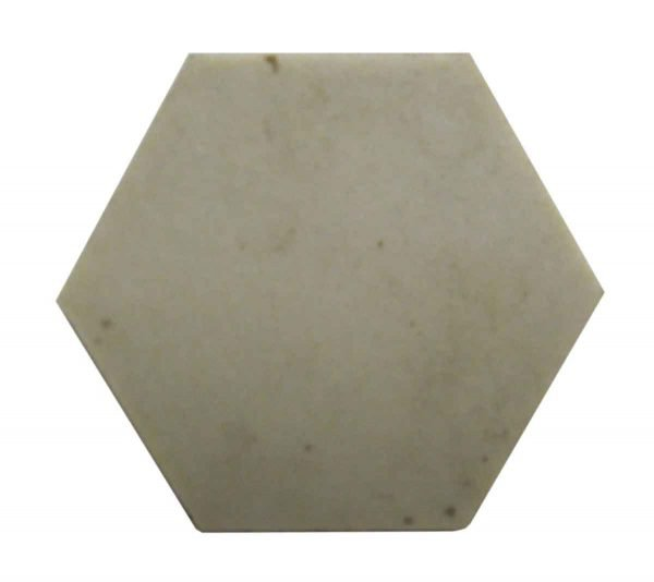 Off White Pentagon Shaped Small Tiles