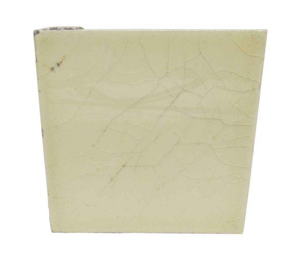 Cream Crackle Square Tile