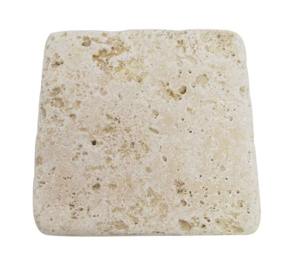 White Textured Stone Square Tiles