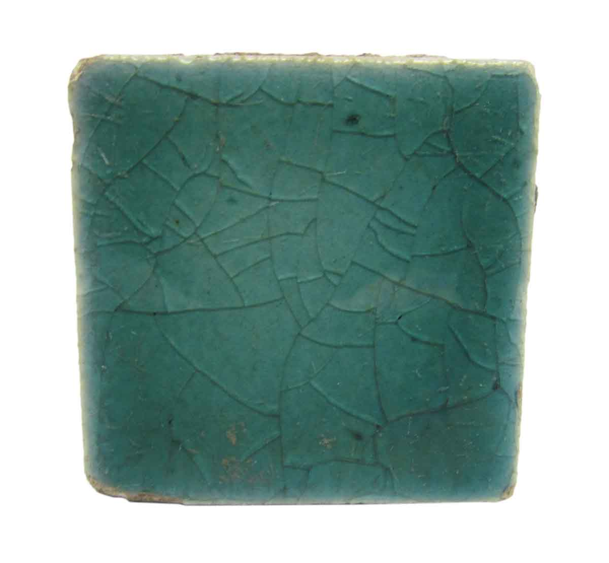 Small Square Crackled Teal Tiles Olde Good Things