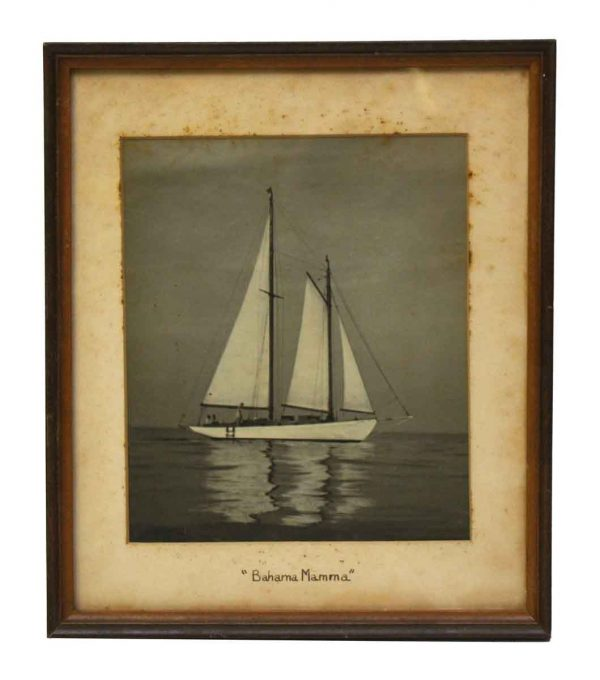 Vintage Sail Boat Photo