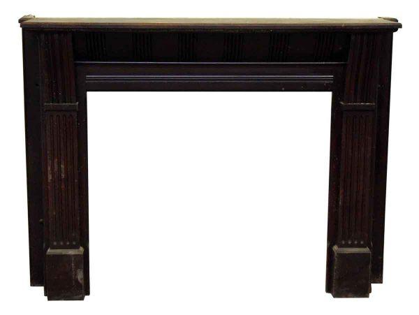 Dark Stained Wooden Mantel
