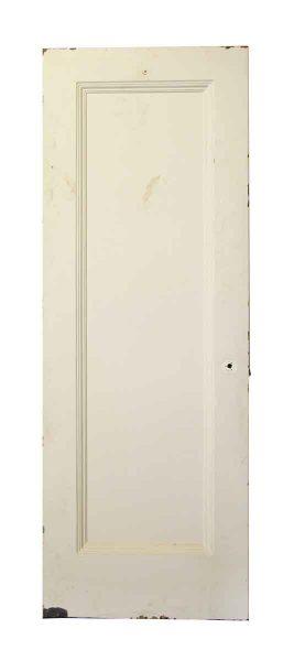 Single Panel White Metal Door