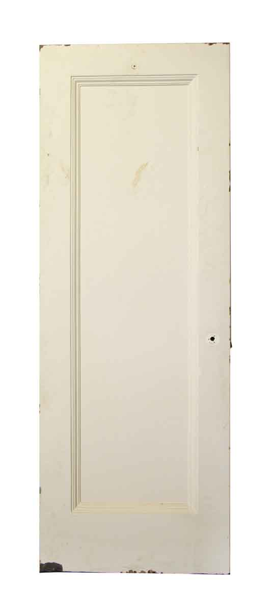Single Panel White Metal Door