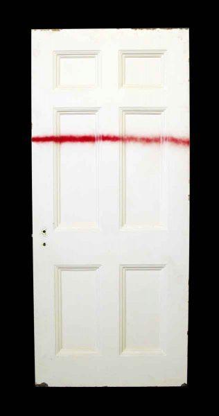 White Metal Door