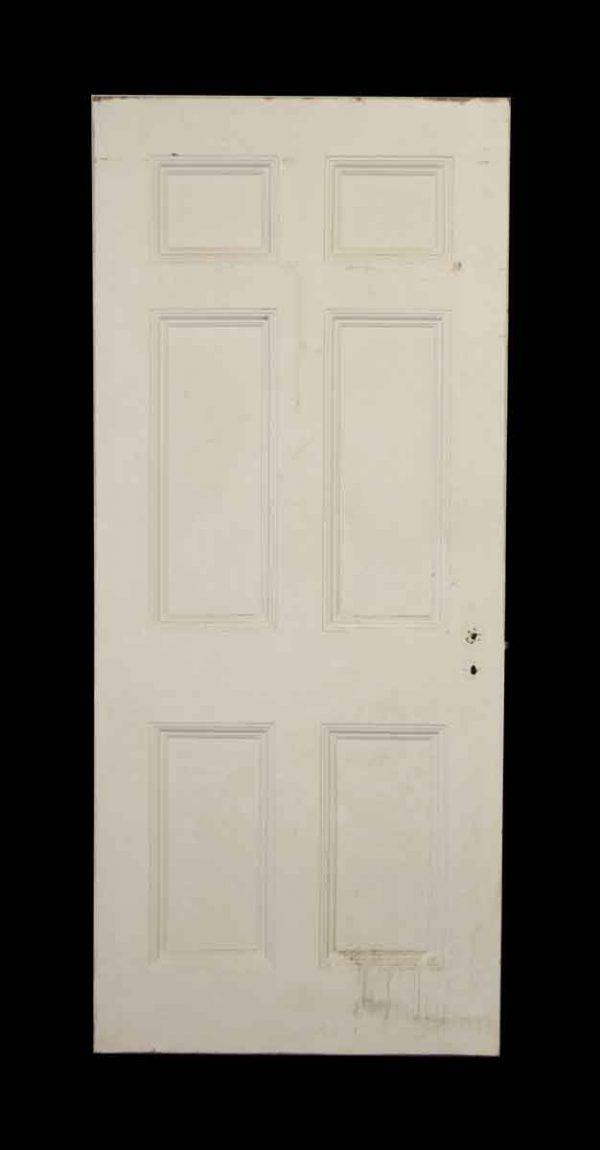 White Metal Door with Six Panels