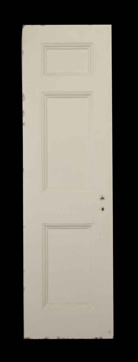 White Metal Door with Three Panels