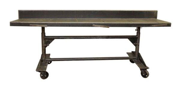 Metal Adjustable Height Rolling Desk