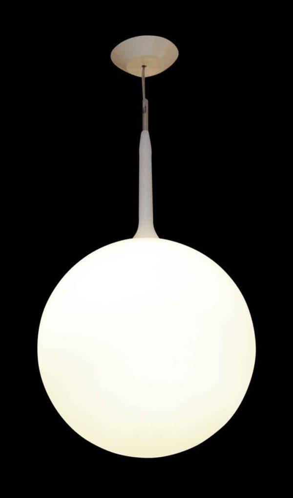White Glass Globe Sphere Pendant Light