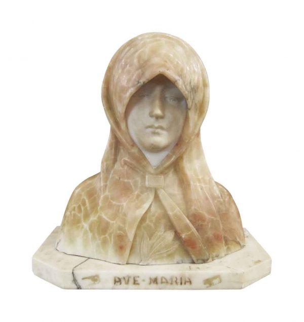 Ave Maria Alabaster Bust