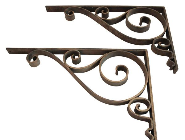 Victorian Hand Forged Metal Brackets