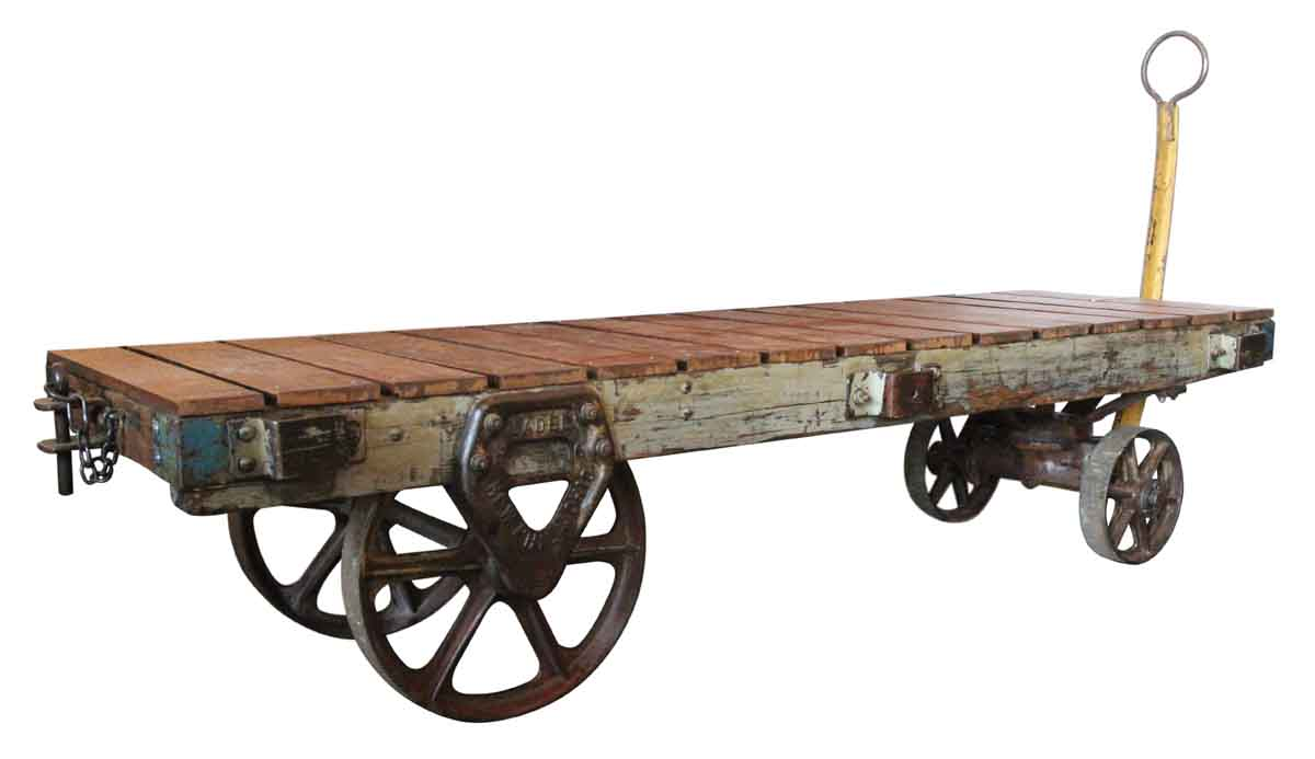 Industrial Vintage Factory Cart Coffee Table Olde Good Things