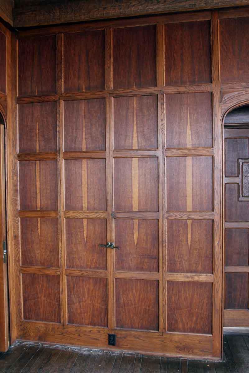 Wood Wall Paneling: Arts & Crafts Solid Oak Paneled Room