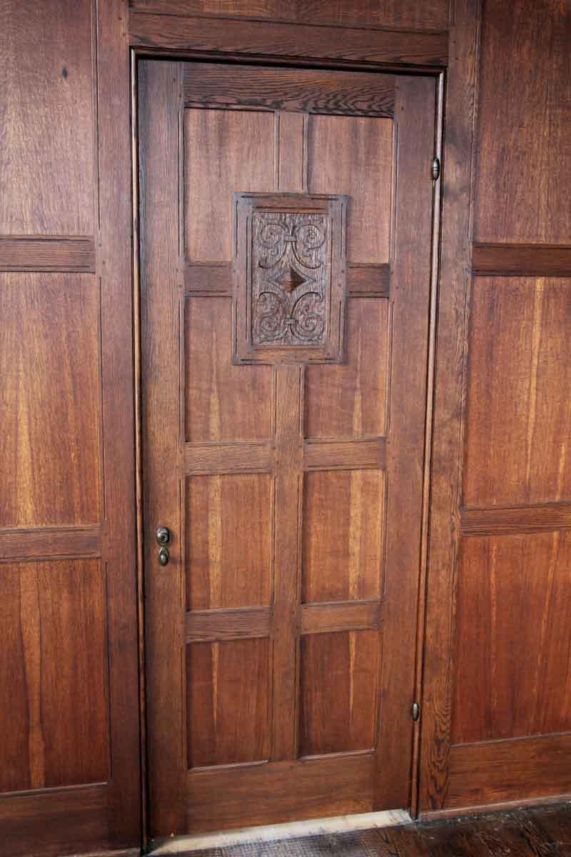 Wood Paneled Smoky Room: Solid Oak Arts & Crafts Wood Paneled Room