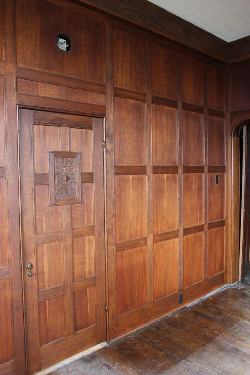 Beautiful Wood Paneled Rooms: Solid Oak Arts & Crafts Wood Paneled Room