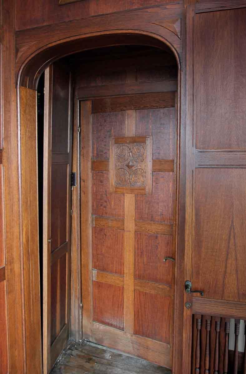 Lightening Up A Wood Paneled Room: Solid Oak Arts & Crafts Wood Paneled Room