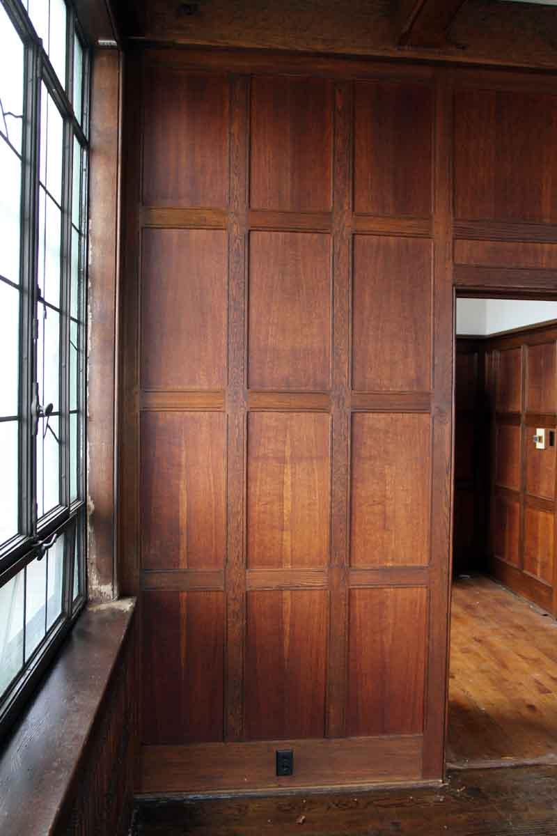Oak Paneled Room: Arts & Crafts Recessed Multi Oak Paneled Room