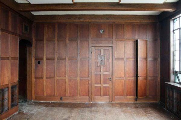 Arts & Crafts Recessed Multi Oak Paneled Room