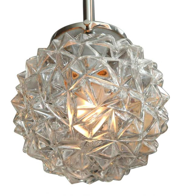 Mid Century Porcupine Glass Light