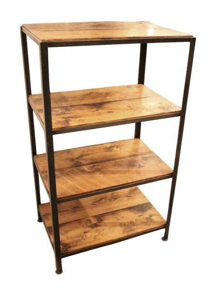 Iron & Reclaimed Pine Shelving Unit