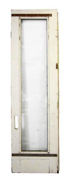 Single Narrow Painted White Door