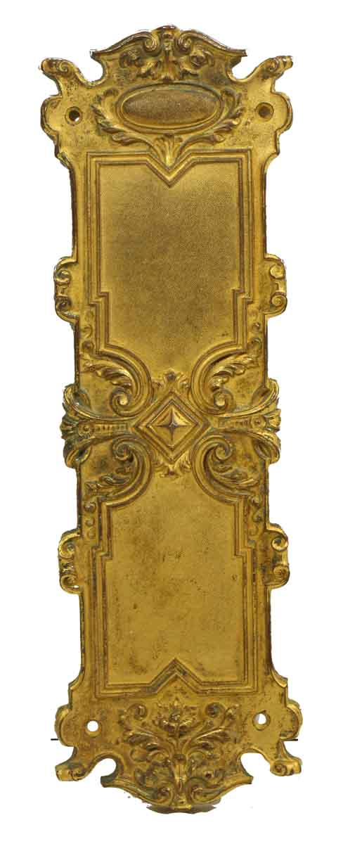 Ornate Gilt Bronze Push Plate