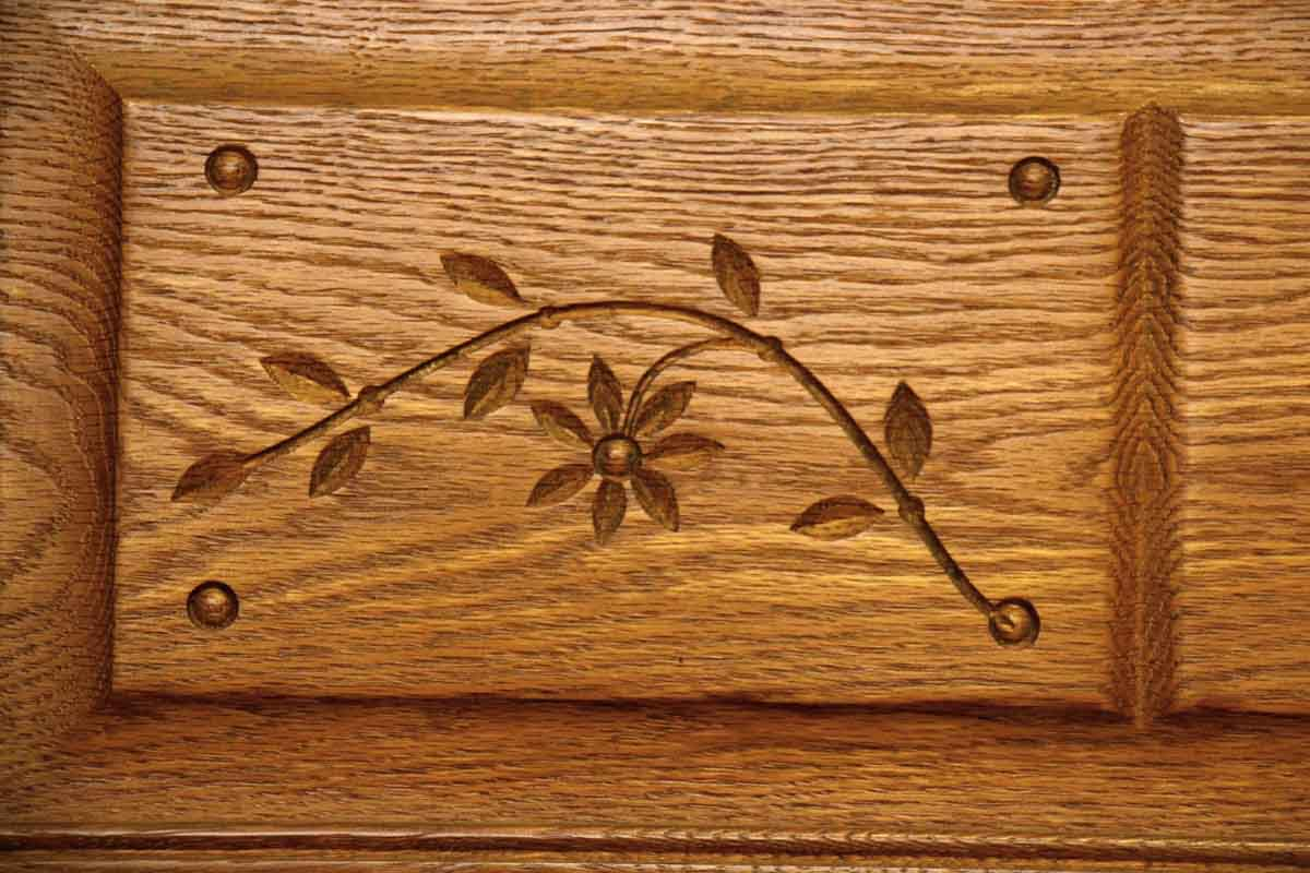 Carved Antique American Chestnut Headboard Amp Bed Frame