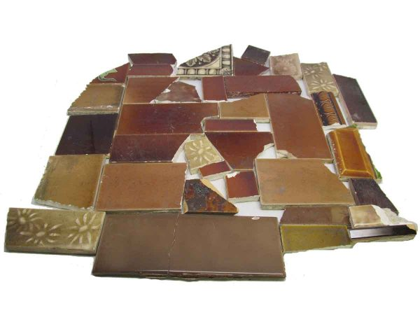 Brown Variety Broken Tile Set
