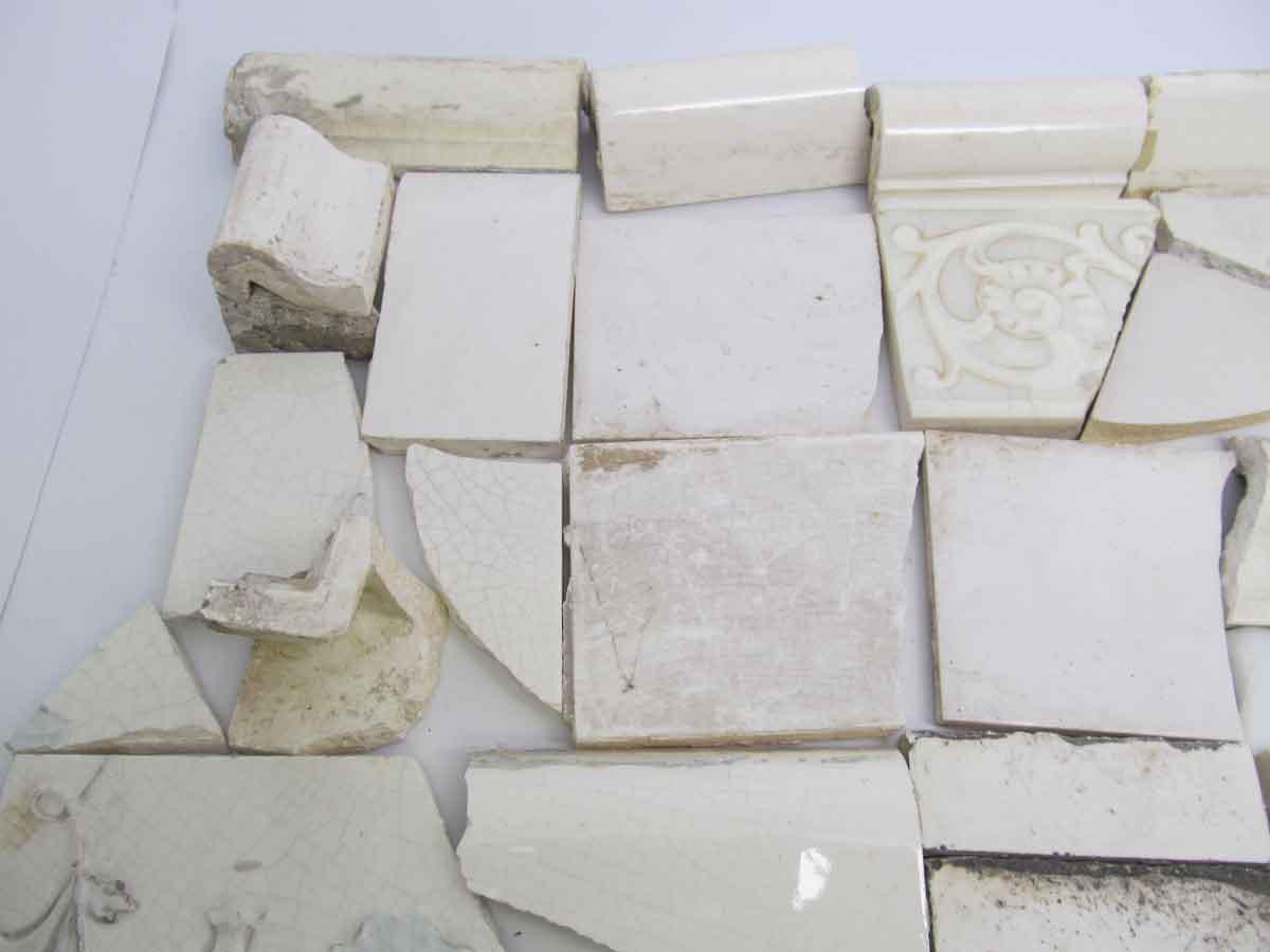 White variety broken tiles olde good things white variety broken tiles dailygadgetfo Choice Image