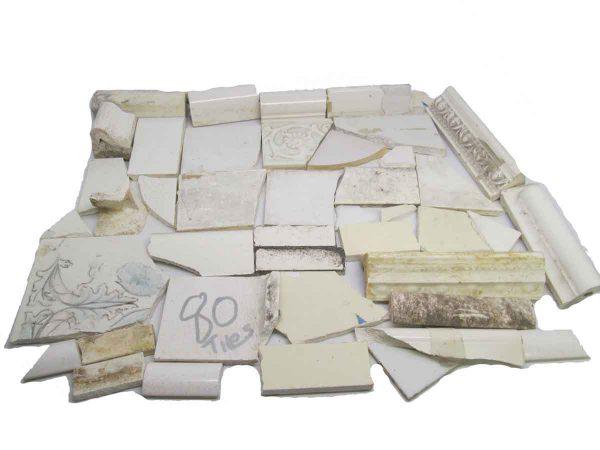 White Variety Broken Tiles