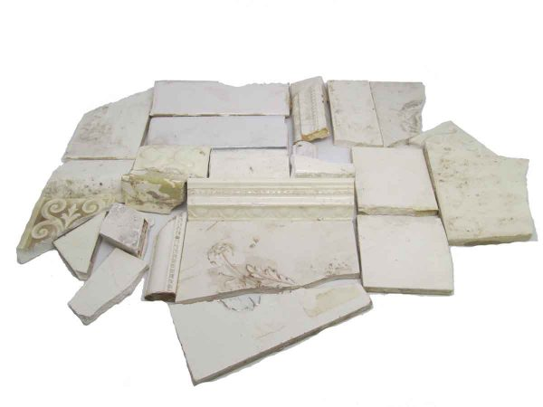 White Variety Broken Tile Set