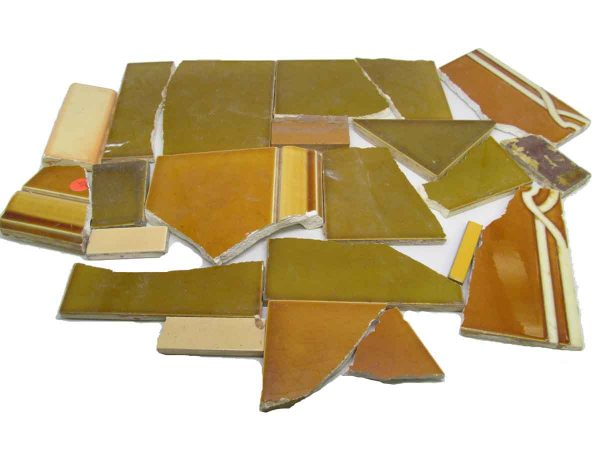 Dark Yellow Variety Broken Tiles