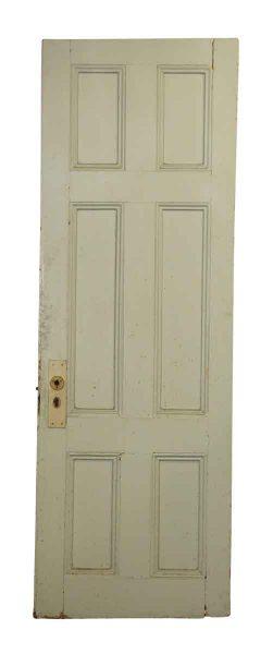 Blue Door with Six Panel Wooden Door