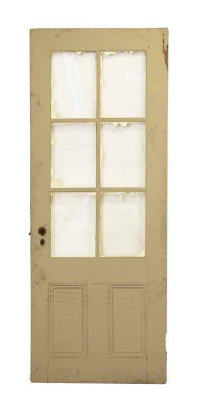 Half Glass Six Pane French Door