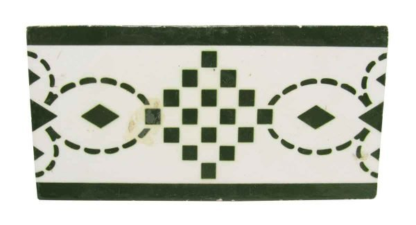 Green & White Geometric Tile